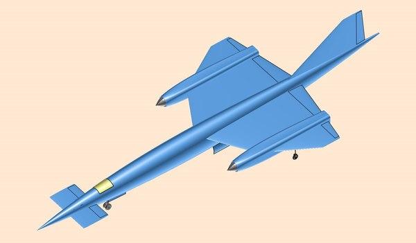 avro 730 mach 3 3D model