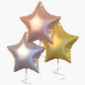 3D balloon metallic star