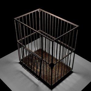 3D asylum cage model