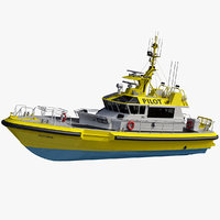 camark pilot boat 22m 3D model