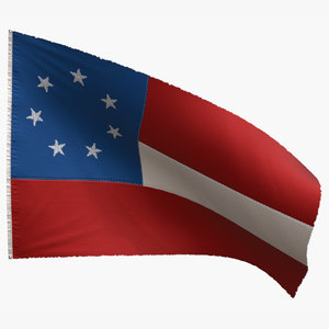 3D model national flag