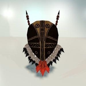 indigenous tribal shield model