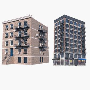 3D apartment building 2 model