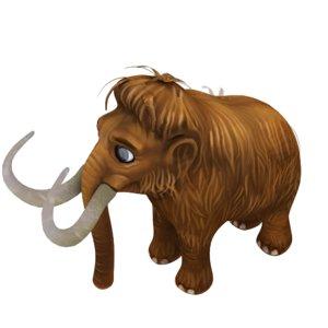 nature animal mammoth model