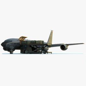 scene kc-135 stratotanker loading 3D model
