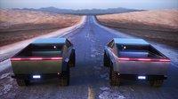 Cyber Truck 2020 Tesla road Cybertruck render scene