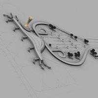 3D model realistic airport car park