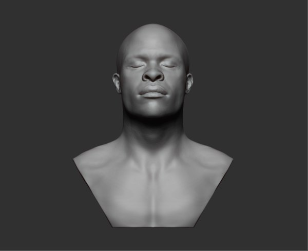 bust african male 3D