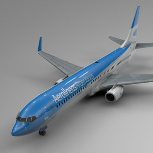 aerolineas argentinas boeing 737-800 3D model