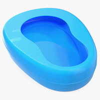 bed pan plastic 3D model