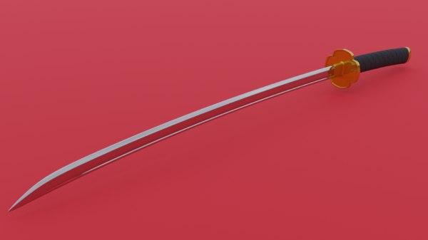 3D japanese sword model