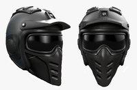 Helmet scifi military combat 3d model low poly human generic