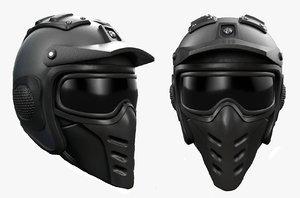 3D model helmet sci fi