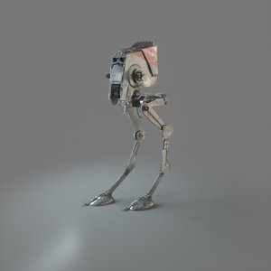 3D at-st scout star