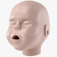 baby cpr dummy head 3D