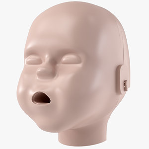 baby cpr dummy head 3D
