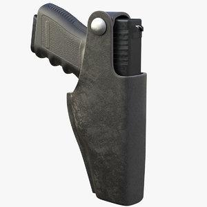 gun tactical belt holster 3D model