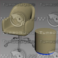 3D bank chair model
