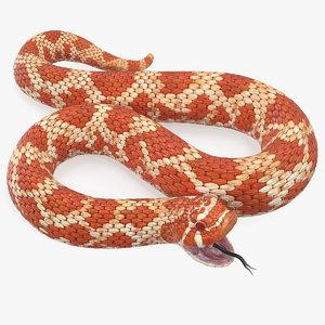 3D red hognose snake attack