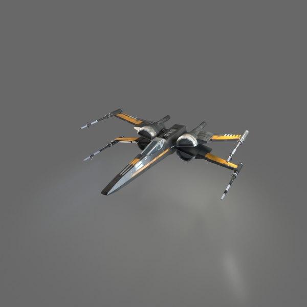 x-wing resistance poe dameron 3D