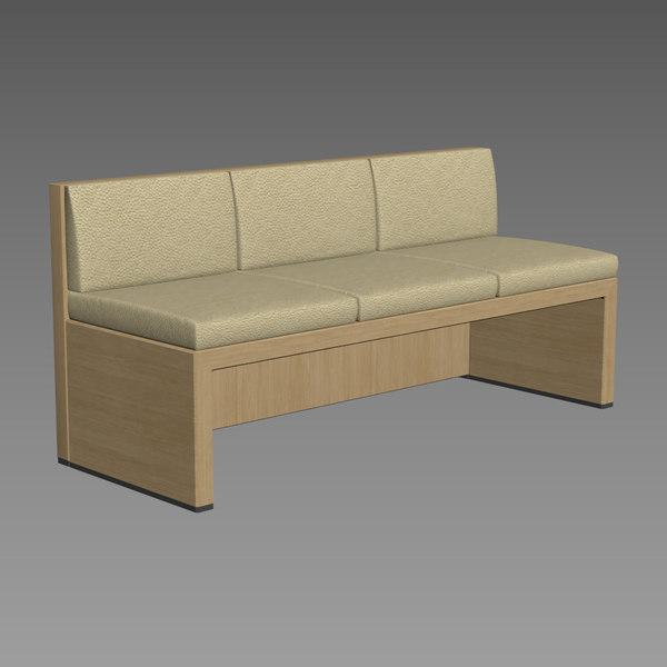bank sofa 3D model