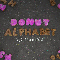alphabet sprinkles frosting 3D model