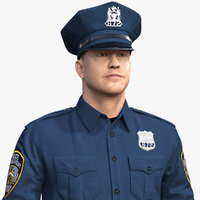 3D nypd police officer ny