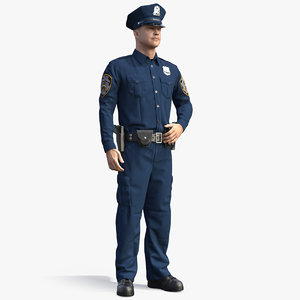 ny police officer standing 3D model