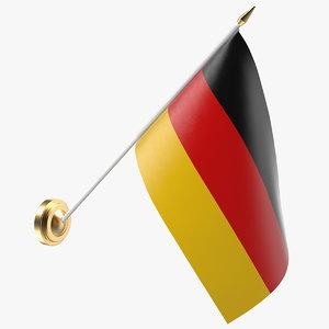 wall flag germany 3D model