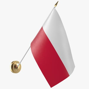3D wall flag poland
