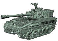fv433 abbot scale 15mm 3D model