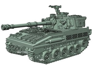 fv433 abbot scale 15mm 3D model