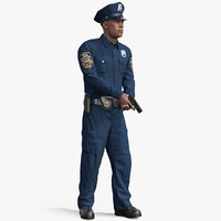 3D nypd cop attention pose model