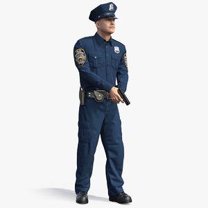 3D ny police officer attention model