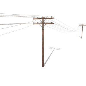 3D electricity poles blender