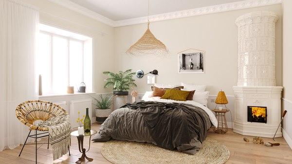 bedroom scandinavian 3D model