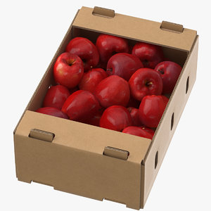 3D cardboard display box red