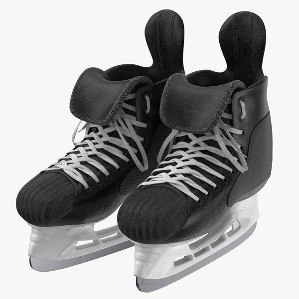 hockey skates 02 3D