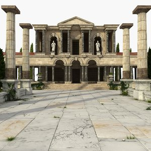 3D ancient greek scene model