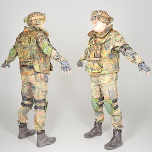 3D equipped soldier bundeswehr uniform
