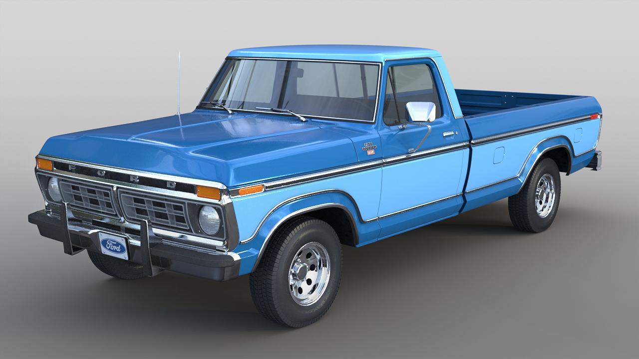 3D 1977 f-150