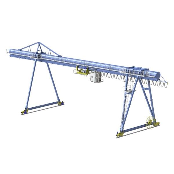 gantry crane 3D model