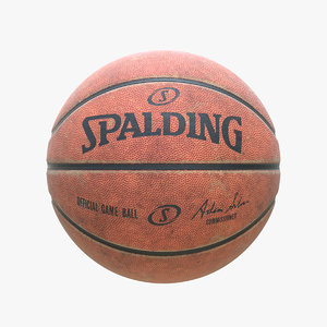 3D dirty spalding basketball ball model
