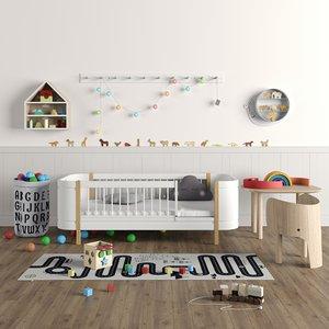kids furniture toys set 3D model