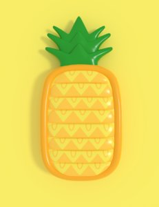3D inflatable pineapple float
