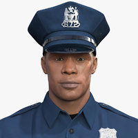 african american nypd cop 3D model