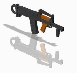 3D groza pubg gun