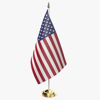 table flag usa u s 3D