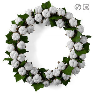 3D wreath cotton