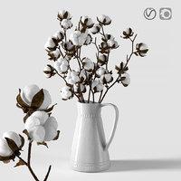 Cotton in a jug
